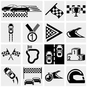 Race vector icons set on gray