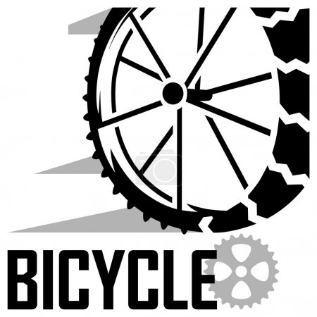 Low angle view of bicycle vector icon