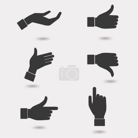 Illustration for Business hand icon set. - Royalty Free Image