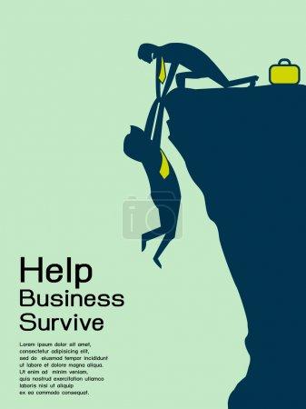 Help businessman survive