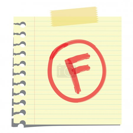 F grade on paper