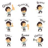 Businessman in communication