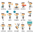 Set of businessman character or office person in v...