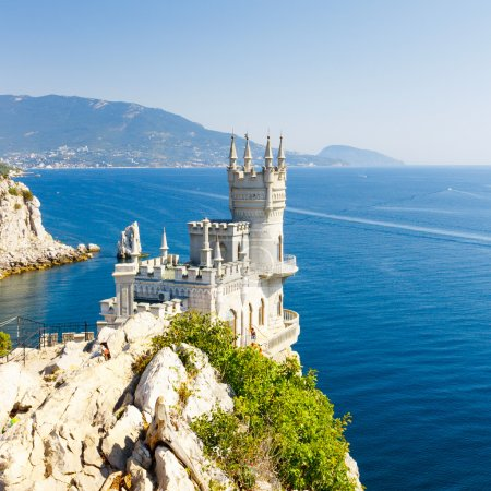 Cut-away of the South Coast of Crimea Yalta, Swallow's Nest Caste