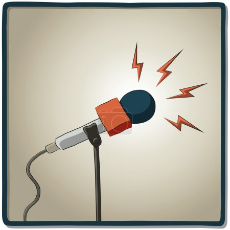 Illustration of a microphone to record voice...