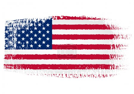 Illustration for Illustration of the flag with brush strokes and transparent background - Royalty Free Image