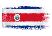 Brushstroke flag Costa Rica
