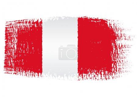 Illustration for Brushstroke flag Peru - Royalty Free Image