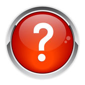 Bouton internet question icon red