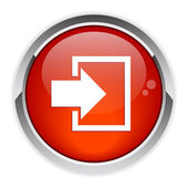 Bouton internet connexion icon red