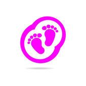 logo baby footprints