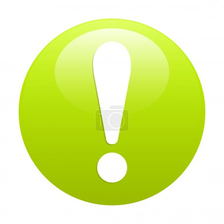Bouton internet attention exclamation danger icon