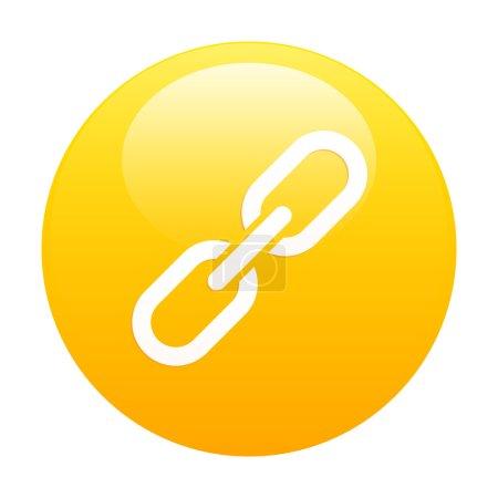 Bouton internet chaine lien icon orange