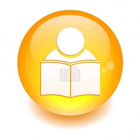 Button icon internet formation sign orange