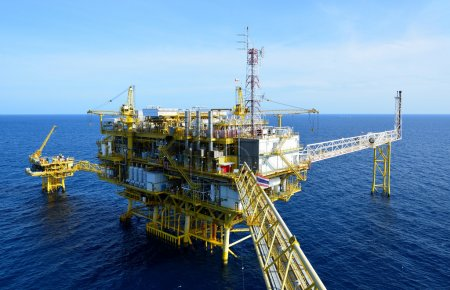 The oil rig in the gulf of Thailand....