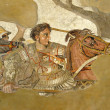 Ancient mosaic from Pompeii, depicting Alexander t...