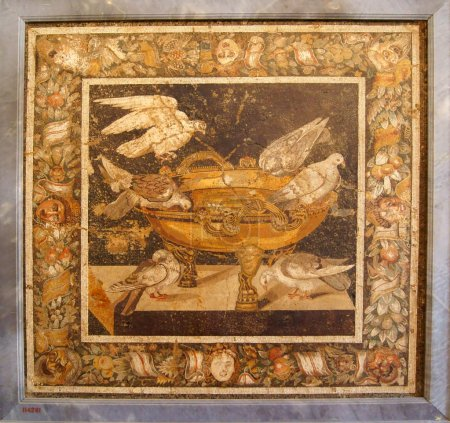 Mosaic with pigeons from Pompeii