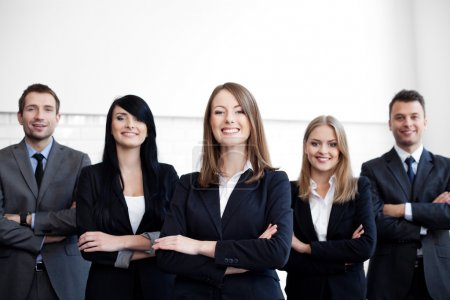 Business group with female leader