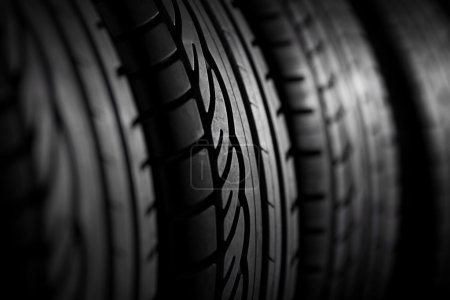Tires stack background