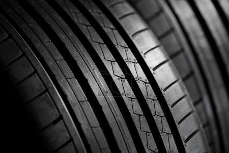 Closeup of summer tire