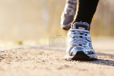 Photo for Runners shoes closeup - Royalty Free Image