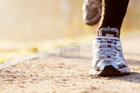 Photo for Runner shoes closeup - Royalty Free Image