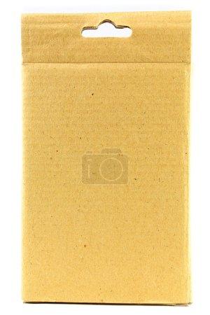 Photo pour Boîte en carton isolée - image libre de droit