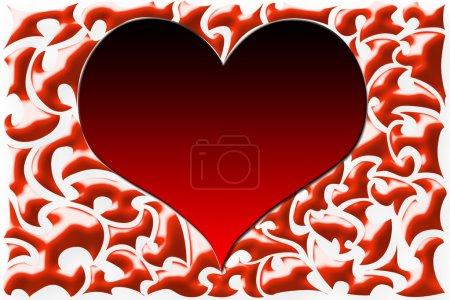 Photo pour Abstraction à motifs cardiaques - image libre de droit