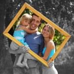 Family in a frame