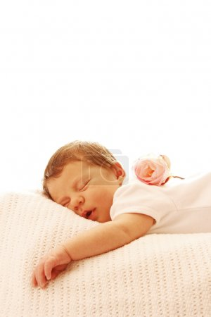 Photo for A one cute little baby sleeping newborn - Royalty Free Image