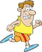 Cartoon man running