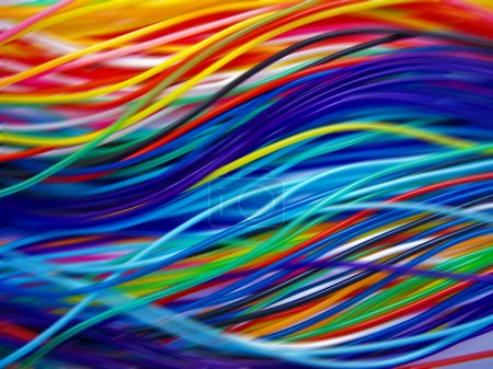Multicolored cables background