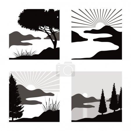 Landscape pictograms