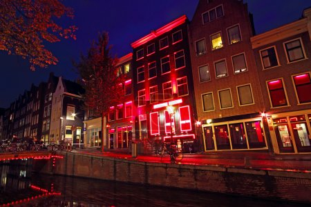 Photo for Red Light District in Amsterdam the Netherlands - Royalty Free Image