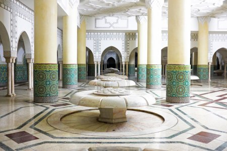 Hammam turkish bath in Hassan II Mosque