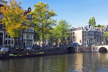 City scenic in Amsterdam the Netherlands