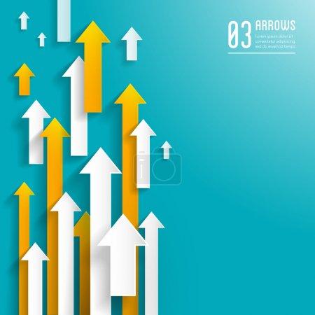Illustration pour Arrière-plan des flèches en papier - modèle d'entreprise créatif - conception graphique - image libre de droit