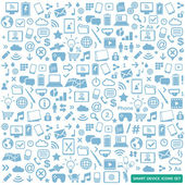 Smart device icons set - modern new technology multimedia smart devices elements