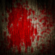 Blood on a wooden wall...