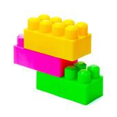 Hračky Meccano izolovaných na bílém pozadí