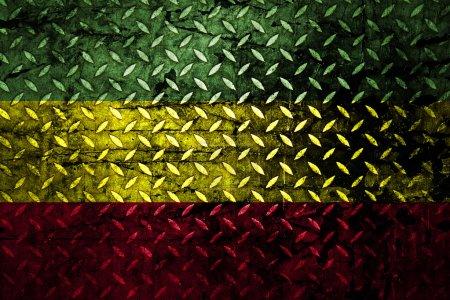 Red, yellow, green rasta flag
