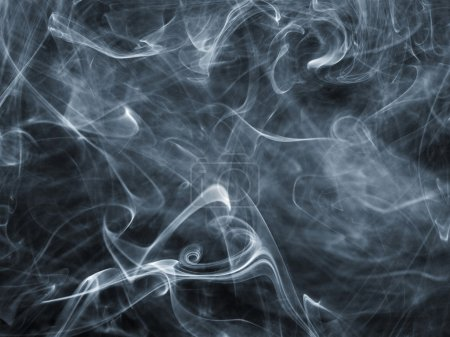 Photo for Abstract smoke on black - Royalty Free Image