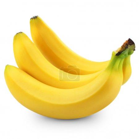 Foto de Racimo de plátanos aislados sobre fondo blanco - Imagen libre de derechos