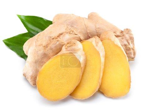 Photo for Fresh ginger isolated on white backgroun - Royalty Free Image