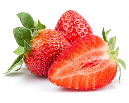 Photo for Fresh strawberry isolated on white background. Studio macr - Royalty Free Image
