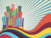 Abstract Buildings Vector Illustration