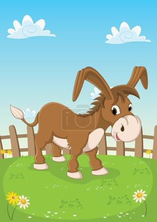 Illustration for Donkey Vector Illustration - Royalty Free Image
