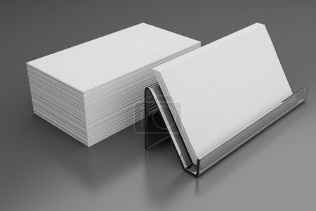 Photo for Blank business card on a dark background - Royalty Free Image