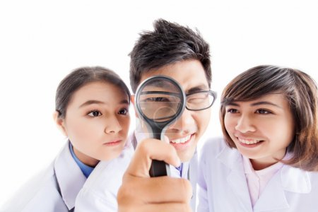 Photo for Team of physicians taking a close look at the medical problem - Royalty Free Image