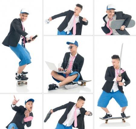 Funky skateboarder